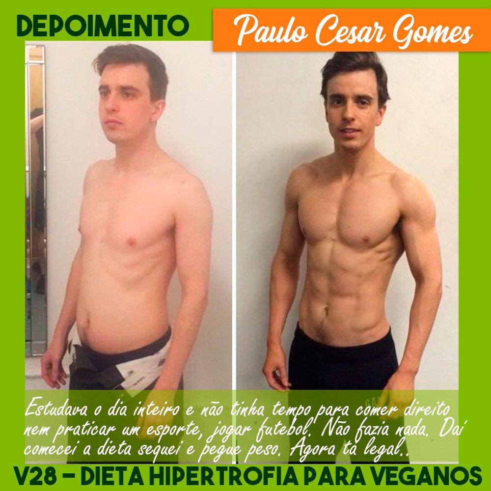 Dieta Vegana - V28 Dieta de Hipertrofia para Veganos Depoimentos de Resultado